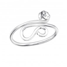 Snake - 925 Sterling Silver Toe Rings A4S36077