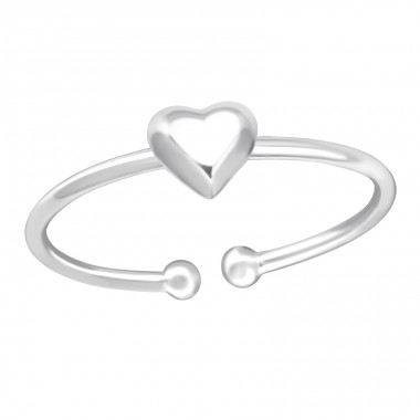 Heart - 925 Sterling Silver Toe Rings A4S36178