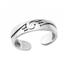 Wave - 925 Sterling Silver Toe Rings A4S36424