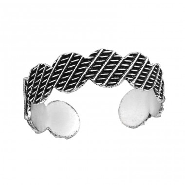 Patterned - 925 Sterling Silver Toe Rings A4S37883
