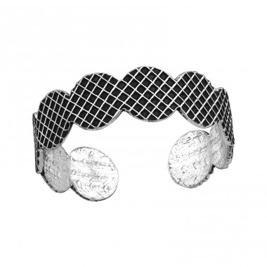 Patterned - 925 Sterling Silver Toe Rings A4S37884