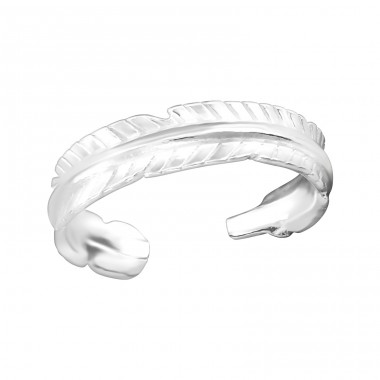 Feather - 925 Sterling Silver Toe Rings A4S38316