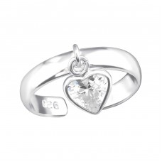 Heart - 925 Sterling Silver Toe Rings A4S38369