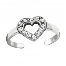 Heart - 925 Sterling Silver Toe Rings A4S38441