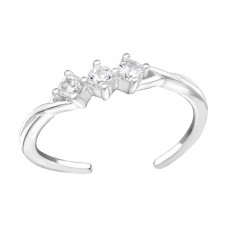 Sparkling - 925 Sterling Silver Toe Rings A4S38442