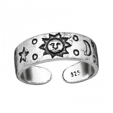 Sun, Moon&star - 925 Sterling Silver Toe Rings A4S38965