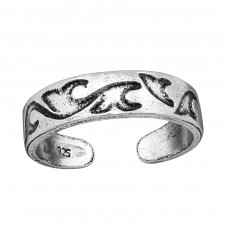 Wave - 925 Sterling Silver Toe Rings A4S38967