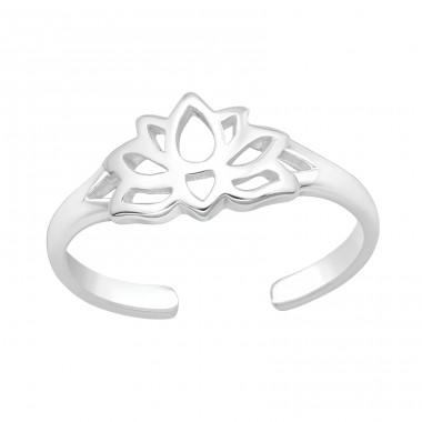 Lotus - 925 Sterling Silver Toe Rings A4S40011