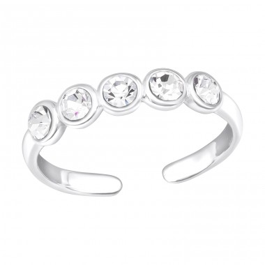 Dot Link - 925 Sterling Silver Toe Rings A4S40155