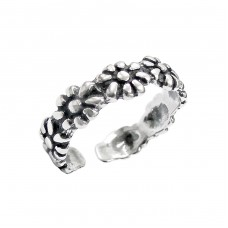 Flowers - 925 Sterling Silver Toe Rings A4S515