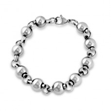 Beaded - 316L Surgical Grade Stainless Steel Steel Bracelets for Men A4S1863