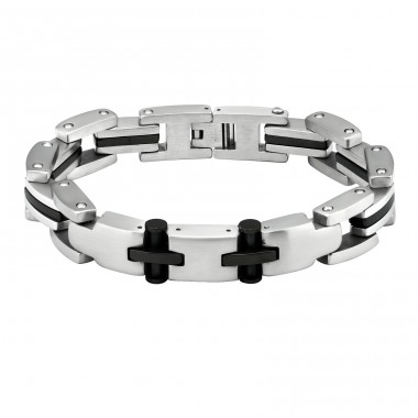 Cross - 316L Surgical Grade Stainless Steel Steel Bracelets for Men A4S1899