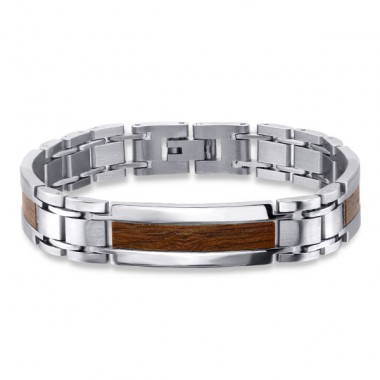 Plain - 316L Surgical Grade Stainless Steel Steel Bracelets for Men A4S24085