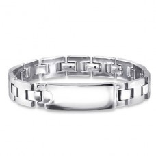 Plain - 316L Surgical Grade Stainless Steel Steel Bracelets for Men A4S24086