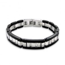 Black Wide - 316L Surgical Grade Stainless Steel Steel Bracelets for Men A4S2519