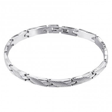 Interweave - 316L Surgical Grade Stainless Steel Steel Bracelets for Men A4S7681