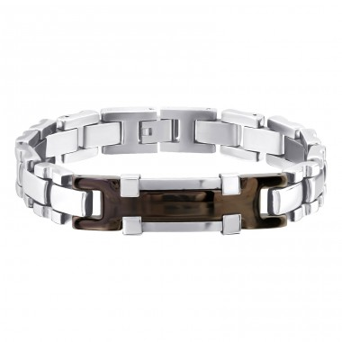 Handcuff - 316L Surgical Grade Stainless Steel Steel Bracelets for Men A4S8079