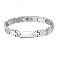 Handcuff - 316L Surgical Grade Stainless Steel Steel Bracelets for Men A4S8082