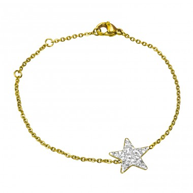 Star - 316L Surgical Grade Stainless Steel Steel Bracelets for Women A4S14948