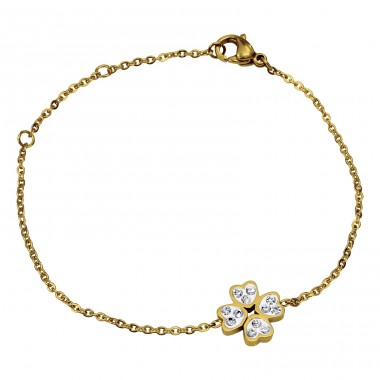 Flower - 316L Surgical Grade Stainless Steel Steel Bracelets for Women A4S14952