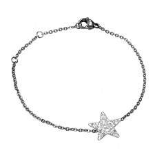 Star - 316L Surgical Grade Stainless Steel Steel Bracelets for Women A4S15083