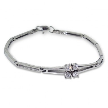 Flower - 316L Surgical Grade Stainless Steel Steel Bracelets for Women A4S1905
