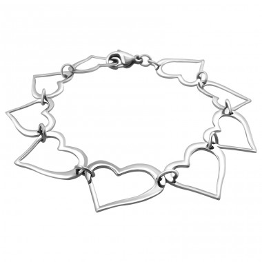 Heart - 316L Surgical Grade Stainless Steel Steel Bracelets for Women A4S19594