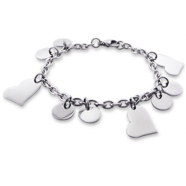 Heart - 316L Surgical Grade Stainless Steel Steel Bracelets for Women A4S19595
