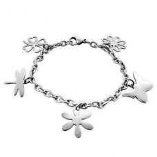 Flower - 316L Surgical Grade Stainless Steel Steel Bracelets for Women A4S19597