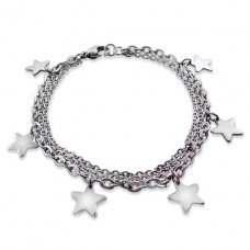 Star - 316L Surgical Grade Stainless Steel Steel Bracelets for Women A4S19600