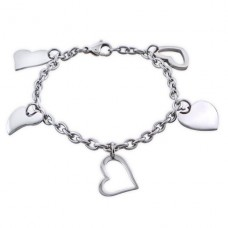 Heart - 316L Surgical Grade Stainless Steel Steel Bracelets for Women A4S19601