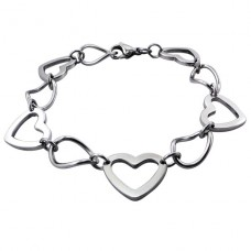 Heart - 316L Surgical Grade Stainless Steel Steel Bracelets for Women A4S19602