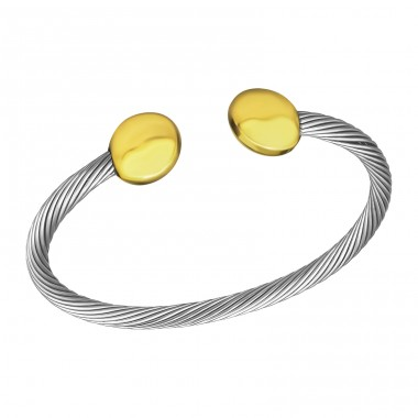 Twist - Brass + 316L Surgical Grade Stainless Steel Steel Bracelets for Women A4S21113