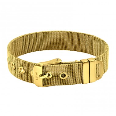 Belt Buckle Mesh - 316L Surgical Grade Stainless Steel Steel Bracelets for Women A4S37733