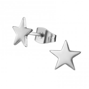Star - 316L Surgical Grade Stainless Steel Steel Ear Studs A4S11387