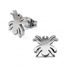 Spider - 316L Surgical Grade Stainless Steel Steel Ear Studs A4S11735