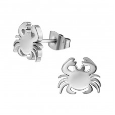 Crab - 316L Surgical Grade Stainless Steel Steel Ear Studs A4S1261
