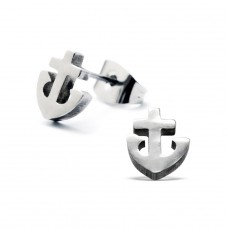 Anchor - 316L Surgical Grade Stainless Steel Steel Ear Studs A4S1265