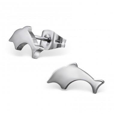 Dolphin - 316L Surgical Grade Stainless Steel Steel Ear Studs A4S1267