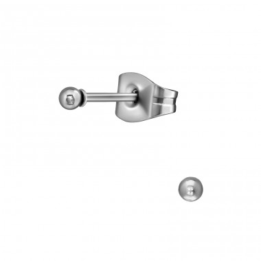 Ball - 316L Surgical Grade Stainless Steel Steel Ear Studs A4S13054