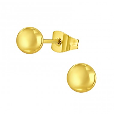 Ball - 316L Surgical Grade Stainless Steel Steel Ear Studs A4S14135