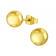 Ball - 316L Surgical Grade Stainless Steel Steel Ear Studs A4S14138