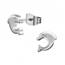 Dolphin - 316L Surgical Grade Stainless Steel Steel Ear Studs A4S1807