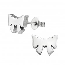 Tie Bow - 316L Surgical Grade Stainless Steel Steel Ear Studs A4S1808