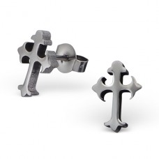 Christian Cross - 316L Surgical Grade Stainless Steel Steel Ear Studs A4S1810