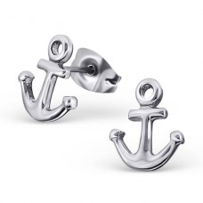 Anchor - 316L Surgical Grade Stainless Steel Steel Ear Studs A4S18489
