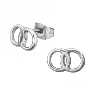 Wedding Rings - 316L Surgical Grade Stainless Steel Steel Ear Studs A4S18491