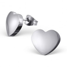 Heart - 316L Surgical Grade Stainless Steel Steel Ear Studs A4S19533