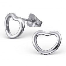 Heart - 316L Surgical Grade Stainless Steel Steel Ear Studs A4S19535