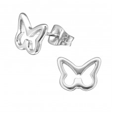 Butterfly - 316L Surgical Grade Stainless Steel Steel Ear Studs A4S19537
